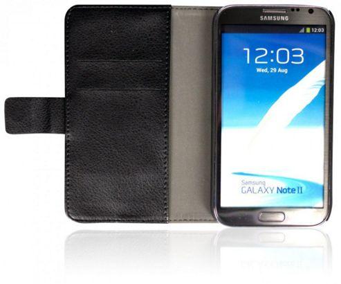 U-bop Neo-ORBIT Horizontal Smartphone Flip Case Black - For Samsung Galaxy S2