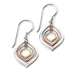 Silver and Rose Gold Plated Lantern Earrings