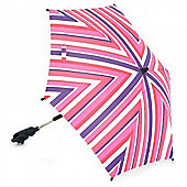 Petite Star Striped Parasol (Red Grape)