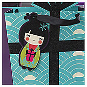 Tesco China Girl 6 Pack Gift Tags