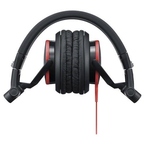 Sony MDR-V55 Foldable On-Ear DJ Headphones - Black/Red