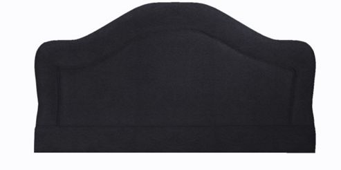 Interiors 2 suit Swift Upholstered Headboard - Small Single - Black - Faux Suede