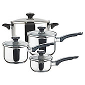 Prestige Everyday Stainless Steel Straining 4 Piece Saucepan Set
