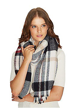 F&F Checked Scarf - Navy & Red