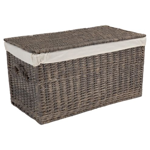 Tesco Grey Wicker Trunk