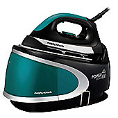 Morphy Richards 330003 Ceramic Plate Steam Generator Iron - Black & Turquoise