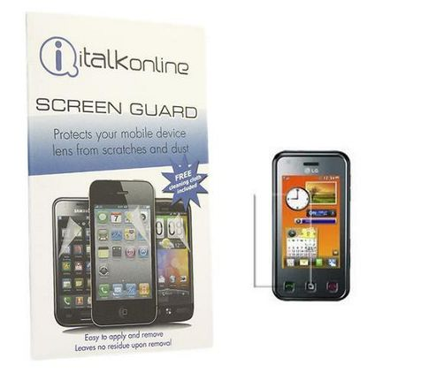 iTALKonline S-Protect LCD Screen Protector and Micro Fibre Cleaning Cloth - For  LG KC910 RENOIR