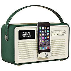 VQ Retro MK II DAB/DAB+/FM/Bluetooth Radio with Apple Lightning Dock (Emerald Green)