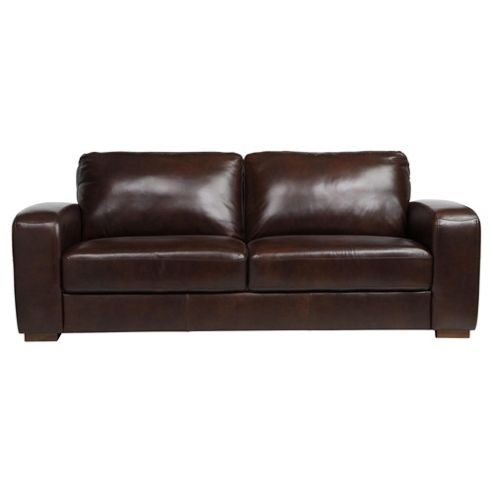 Buy Idaho 3 Seater Leather Sofa Antique Chocolate From