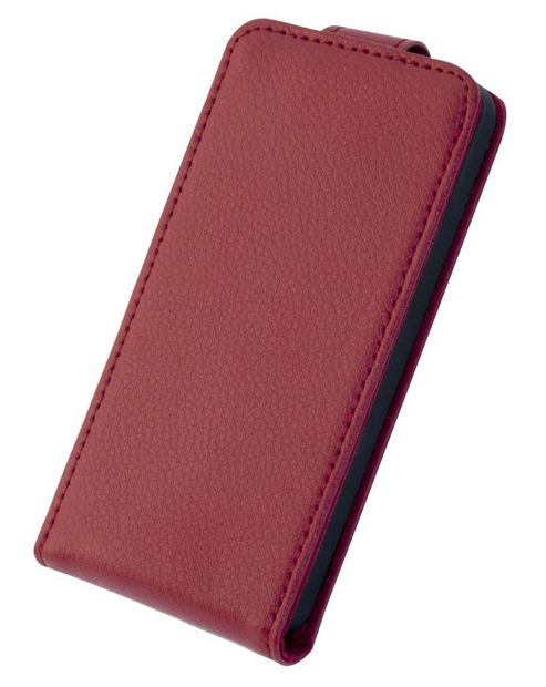 Tortoise™ Genuine Leather Flip Case iPhone 5 Red