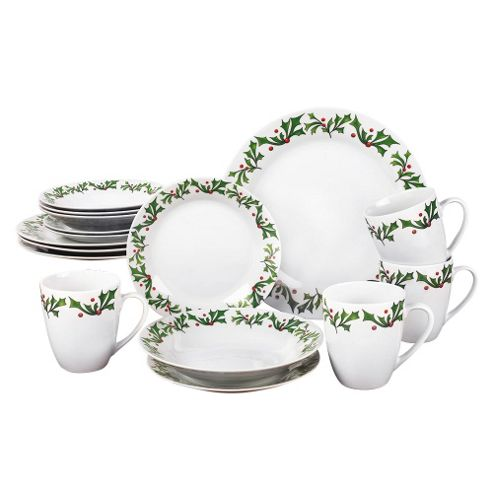 buy 16 piece holly dinner set from our dinner plates range. Black Bedroom Furniture Sets. Home Design Ideas