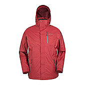 Mountain Warehouse Bracken Extreme 3 in 1 Mens Waterproof Jacket - Red