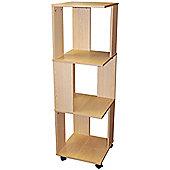 Office - Revolving Filing Storage Shelves / Bookcase - Beech