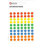 Blick Circle - 8mm Assorted Colours - Labels - 350pk