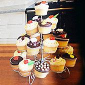 Cake - 4 Tier / 23 Cupcake Metal Cake Stand - Silver