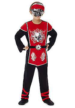 F&F Halloween Ninja Dress-Up Costume - Red & Black