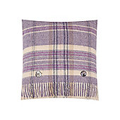 Dickins & Jones Woven Check Cushion, Purple