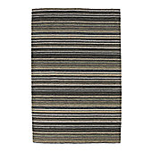 Think Rugs Oxford Black/Green Knotted Rug - 150 cm x 240 cm (4 ft 11 in x 7 ft 11 in)
