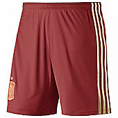 2014-15 Spain Home World Cup Football Shorts (Kids) - Red