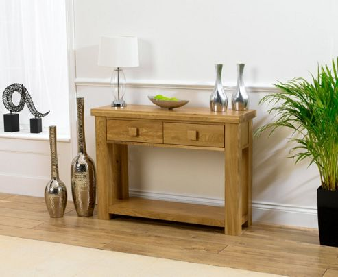 Barcelona Solid Oak Console Table