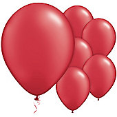 Ruby Red Balloons - 11' Pearl Latex Balloon (100pk)