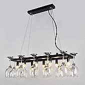 Designer Style Eight Way Wine Glass Rack Ceiling Light Fitting