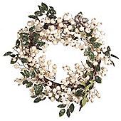 White Snowberry Christmas Door Wreath