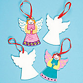 Kids Crafts Angel Ceramic Hanging Deco (Pack of 5)