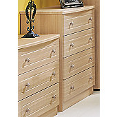 Welcome Furniture Warwick 4 Drawer Chest - Light Oak