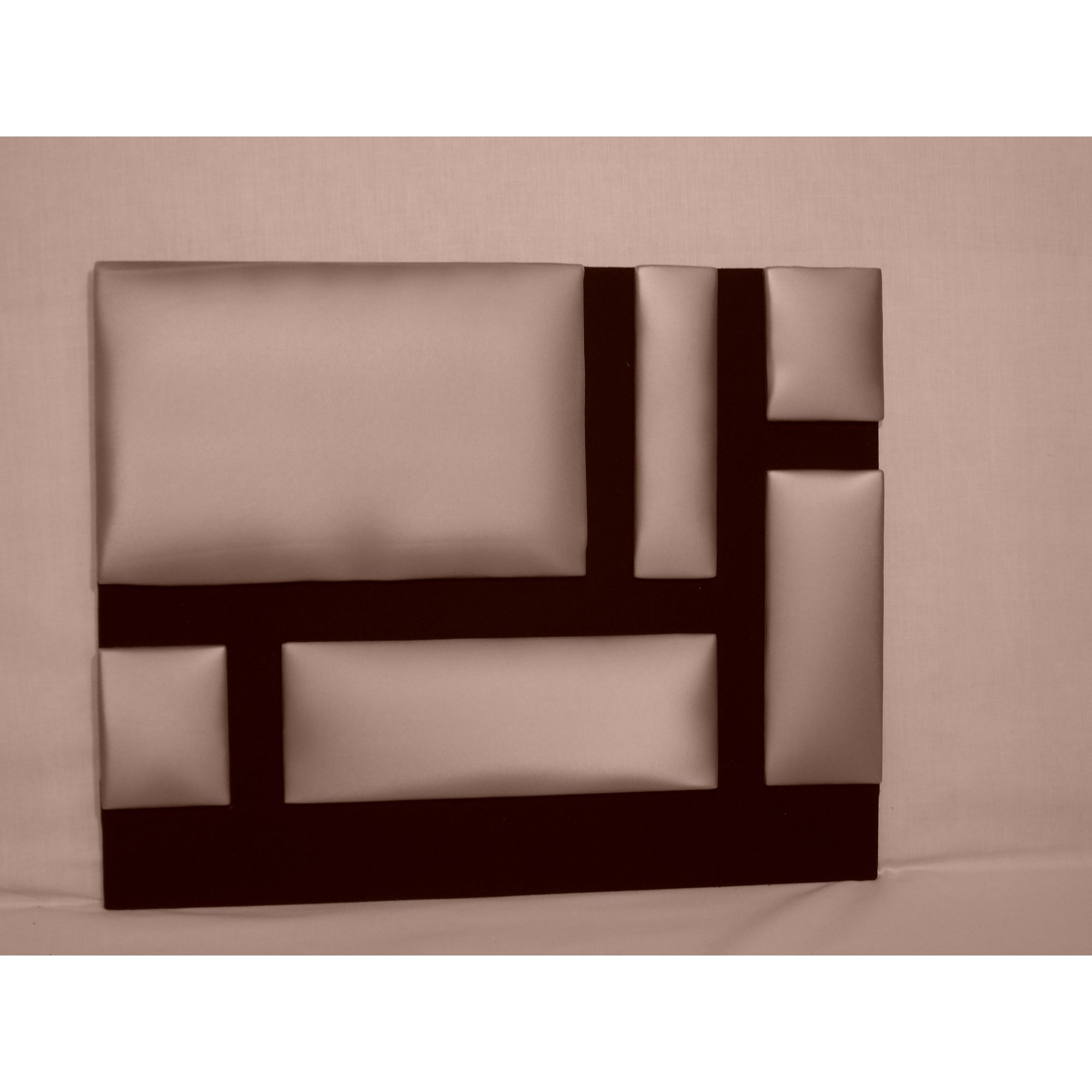 Headboard Solutions Mondrian Headboard - Apollo Dewberry - Double at Tesco Direct