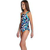 Speedo Girls Allover Rippleback Print 39 Swimsuit - Multi