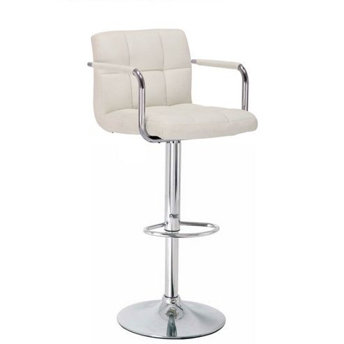 Havana Cream Faux Leather Bar Stool
