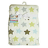 First Steps Supersoft Fleece Baby Blanket Stars 75x100cm