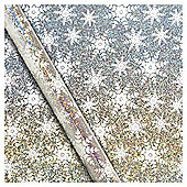 Hologram Snowflake Christmas Wrapping Paper, 3m