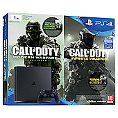 PS4 Slim 1TB Console Call of Duty Double pack (includes Modern Warfare Remastered and Infinite Warfare) (D-Chassis)