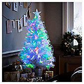3ft White Fiber Optic Colour Changing Christmas Tree