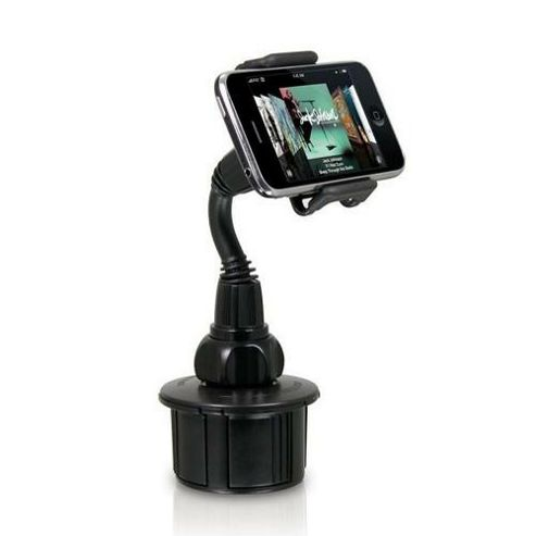 Macally 28342 Adjustable Car Cup Holder Mount for iPhone and iPod