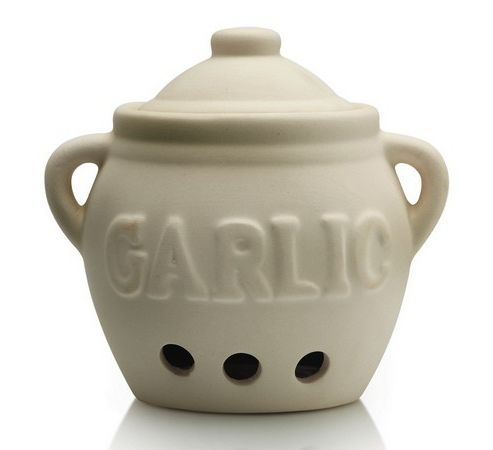 Ceramic Garlic Storage Pot