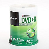 Sony DVD Recordable Media - DVD+R, 100 Pack