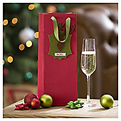 Tesco Stag Design Bottle Bag & Gift Tag, Red