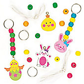 Easter Wooden Keyring & Bag Dangler Kits (Pack of 4)