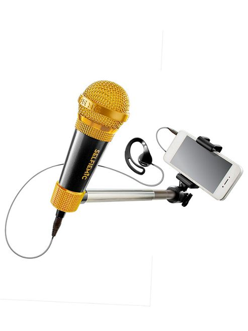 buy selfiemic selfie stick and microphone black from our musical toys range tesco. Black Bedroom Furniture Sets. Home Design Ideas