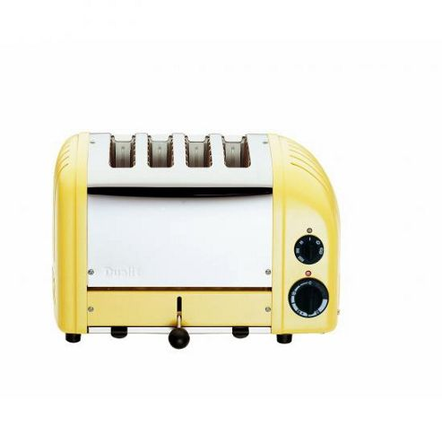 Dualit 47188 4 Slot Toaster 47188 Canary Yellow Finish