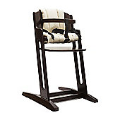 Walnut BabyDan Danchair High Chair & Beige Comfort Cushion