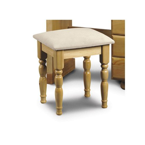 Julian Bowen Pickwick Dressing Table Stool in Solid Pine