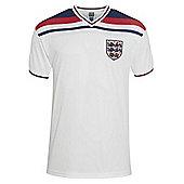 Score Draw England 1982 World Cup Mens Home Football Shirt White - White