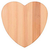 Tesco Beech Heart Shape Board