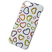 Tortoise™ Look Hard Protective Case iPhone 5/5s,Hearts Multi-coloured.