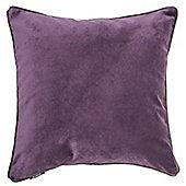 McAlister Aubergine Matt Velvet Cushion Cover - 43x43cm