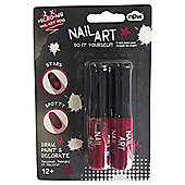 Mini Nail Art Set 2 Burgundy/Glitter